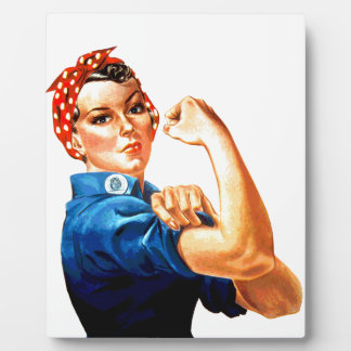 We Can Do It Rosie the Riveter WWII Propaganda Plaque