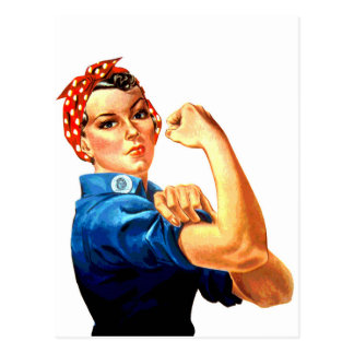 We Can Do It Rosie the Riveter WWII Propaganda Postcard