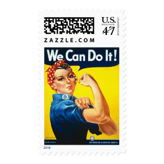 We Can Do It Rosie the Riveter WWII Propaganda Stamp