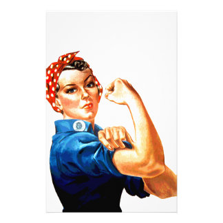 We Can Do It Rosie the Riveter WWII Propaganda Stationery