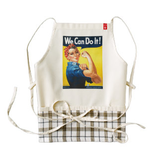 We can do it Rosie the Riveter Zazzle HEART Apron