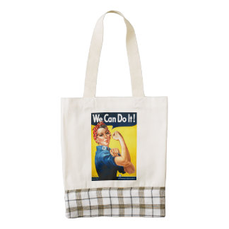 We can do it Rosie the Riveter Zazzle HEART Tote Bag