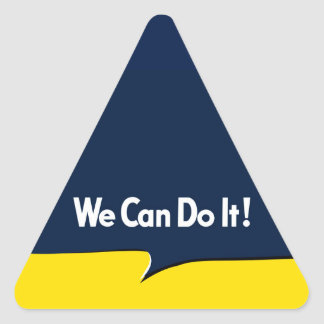 We Can Do it Rosie Triangle Sticker