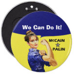 We Can Do It! Sarah Palin For Vise President Pin