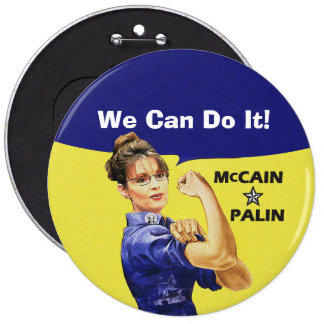 We Can Do It! Sarah Palin For Vise President Pinback Button