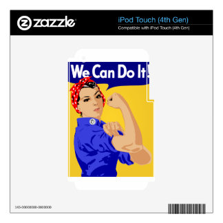 We Can Do It Sketch iPod Touch 4G Skin