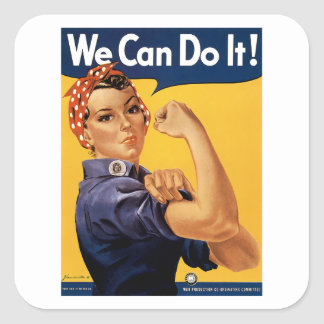 We Can Do it! Square Sticker