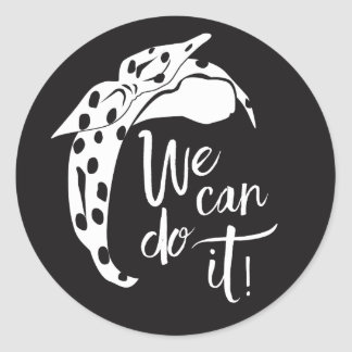 We Can Do It Stickers. Rosie the Rivoter. Classic Round Sticker