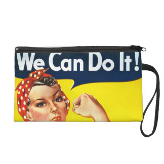 We Can Do It Vintage Style Wristlet