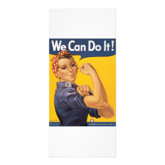 We Can Do It! Vintage War Poster Woman Rack Card Template