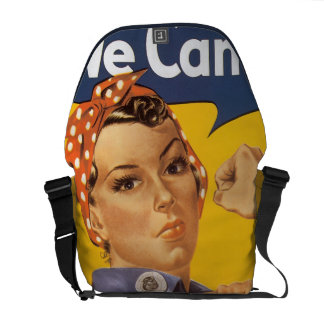 We Can Do It Vintage WW2 Iconic Woman Worker Messenger Bag
