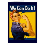 We Can Do It! Vintage WW2 Rosie the Riveter Greeting Cards