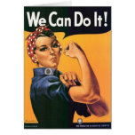 WE CAN DO IT! Wartime card