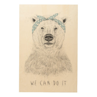 We can do it wood wall decor