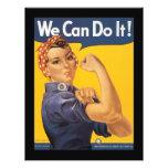 """We Can Do It World War 2 8.5"""" X 11"""" Flyer"""