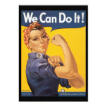 We Can Do It World War 2 Personalized Invite