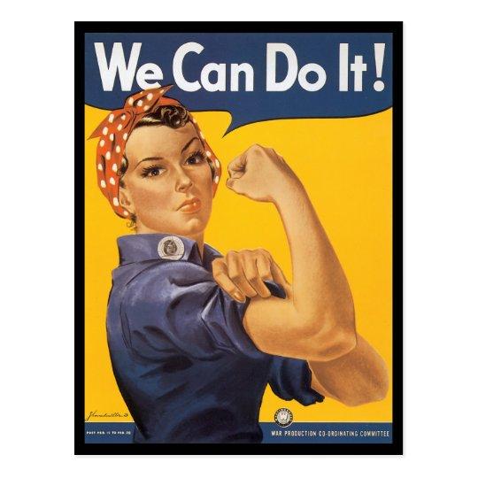We Can Do It World War 2 Postcard