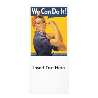 We Can Do It World War 2 Custom Rack Cards