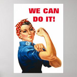 We Can Do It World War II Propaganda Women Power Poster