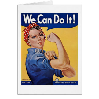 We Can Do It! - WW2 Greeting Card
