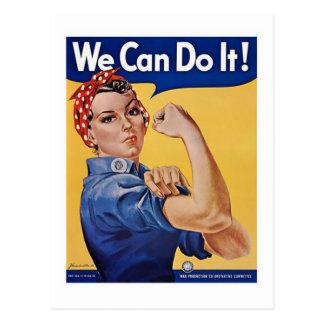 We Can Do It! - WW2 Postcard