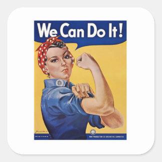 We Can Do It! - WW2 Square Sticker