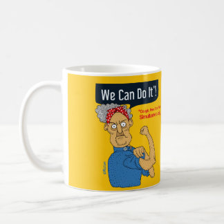 We can do it - yellow funny cartoon coffee mug