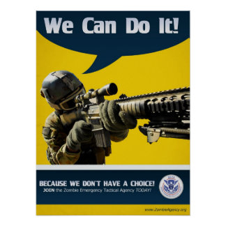 We Can Do It - Zombie Poster