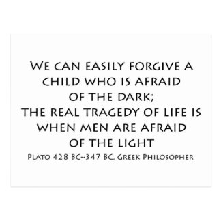 """""""We can easily forgive a child..."""" Postcard"""