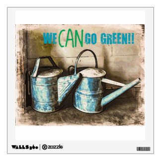 We CAN Go Green Wall Sticker
