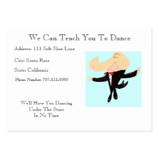We Can Teach You To Dance Business Card Templates
