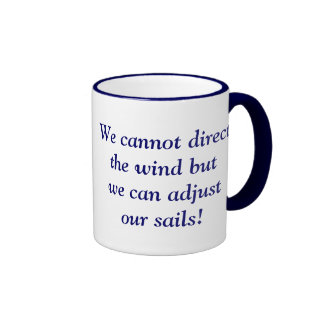 We cannot direct the wind but we can adjust our sa ringer mug