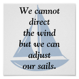 We Cannot Direct the Wind Poster