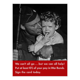 We Can't All Go -- WW2 Print