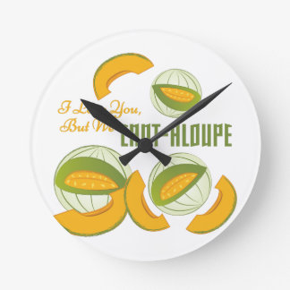 We Cant-aloupe Round Clock