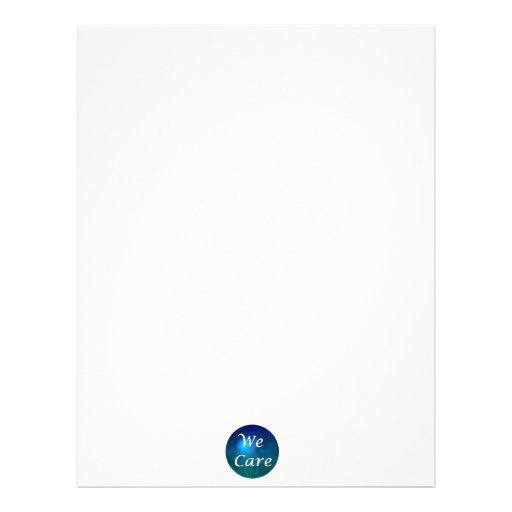 """We Care""- show you care, for any reason! Letterhead"