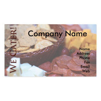 We Cater Business Cards