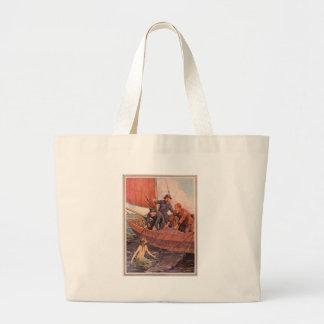 We Caught a Mermaid! Vintage Canvas Bag