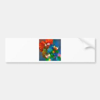 We celebrate the life in full colors bumper sticker