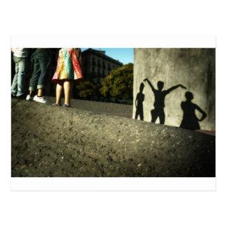 We cheer, we dance, we act crazy postcard