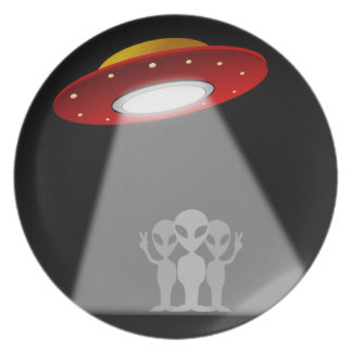 We Come In Peace Extraterrestrials Plate