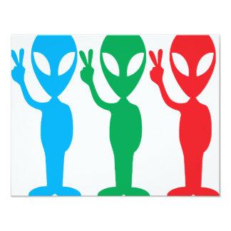 """We come in peace 4.25"""" x 5.5"""" invitation card"""