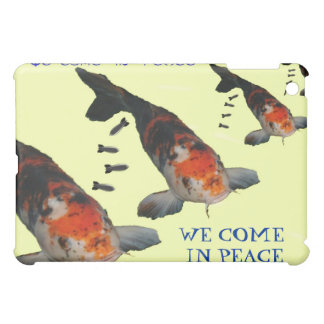 We Come in Peace Koi Bombers iPad Hard Shell Case iPad Mini Cover