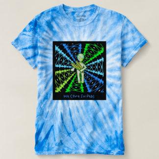 We Come In Peas aLiEn Tie Dye Shirt