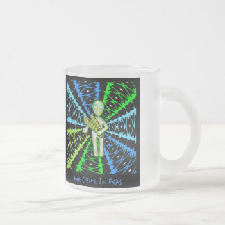 We Come In Peas ! Frosted Glass Coffee Mug