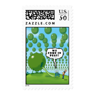 WE COME IN PEAS POSTAGE