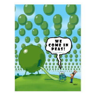 WE COME IN PEAS! POSTCARD
