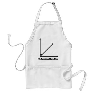 we complement each other adult apron