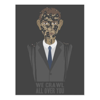 We Crawl All Over You Postcard