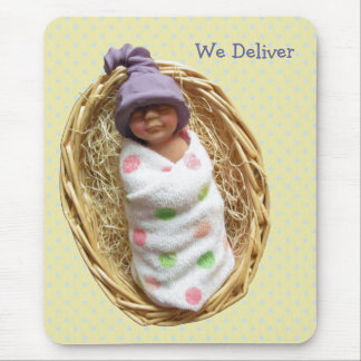 We Deliver: Promotion: Pun: Clay Baby, Elf Hat Mouse Pad